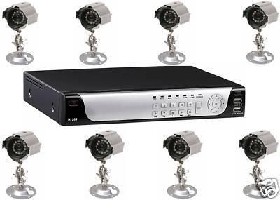 - NEUE J2F 8 EXTERNE FESTPLATTE, 500 GB, CCTV 8 WEGE H264 DVR-KIT (H264 Cctv)