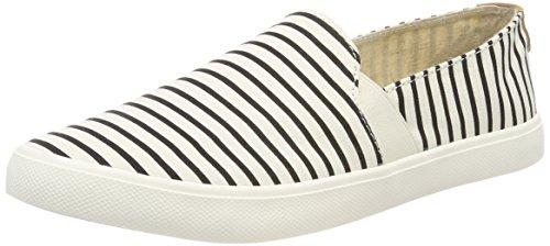 Roxy Damen Atlanta Slip On Sneaker, Weiß (White/Stripe Tst), 38 EU (Von Roxy Sneaker)