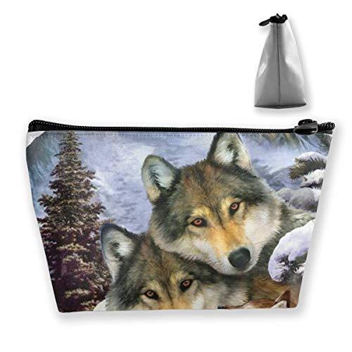 Wolf Harmony Wildlife Tier Reise Make-Up Tasche Kosmetiktasche Organizer Aufbewahrungstasche Für Frauen Schönheit Lsu Laser