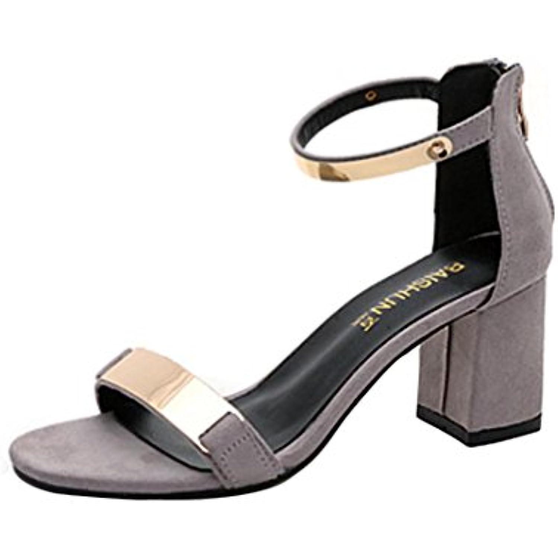 BeautyTop  s Femme,Femmes Été  s s s Open Toe Femmes ÉPais Talon Chaussures Gladiateur Chaussures  s... - B07CG75R8Y - 4675ce