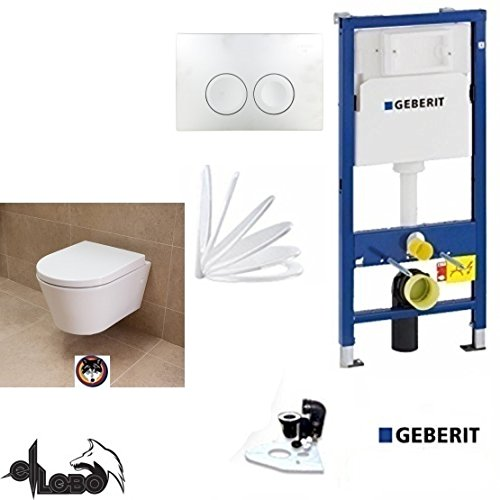 e72f7f6a1aa Geberit Duofix Frame System, City Design Washdown Toilet Complete Set + Lid  with Soft Close