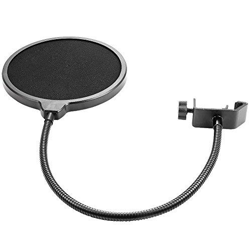LMTECH Wind- und Pop-Filter Studio-Mikrofon Mic Wind-Schirm-Knall-Filtermaske Schild für die Aufnahme Sprechen (schwarz1) -