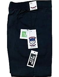 Boys Half Elasticated Zip & Hook School Uniform Teflon Slim Fit Trousers