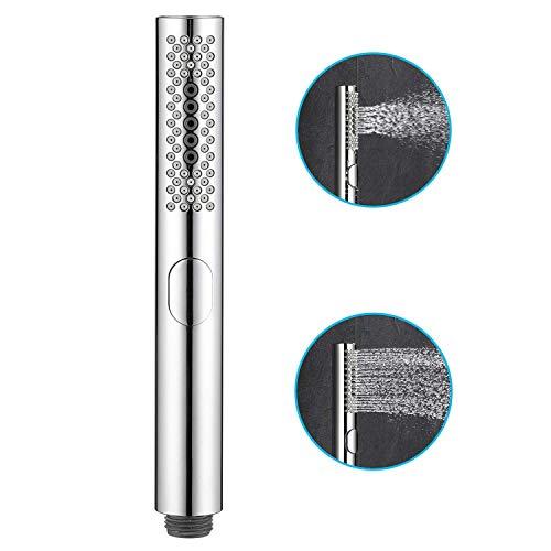 Ctbd Badezimmer Runde Handbrause Kopf mit einfach zu reinigender Gummidüsen 3 Funktion Chrom geschmiert, Wasser sparen