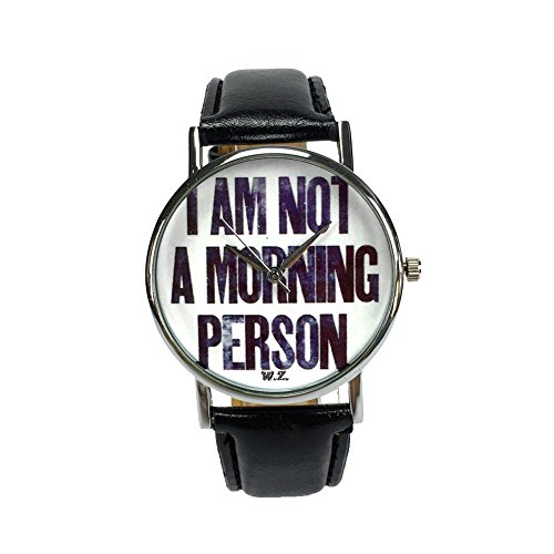 Woodstock Zambon - Orologio 'I'm not a morning person'