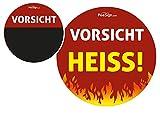 Effekt Aufkleber Sticker Urinal PEESIGN 'Vorsicht heiß!' Urinal Spiel