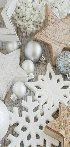 Textilbanner - Thema: Weihnachten - Sternendeko / Tischdekoration - 180cmx90cm - Banner zum Hängen & Dekorieren