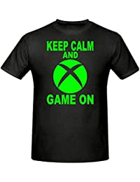 Keep Calm & Game On (Sphere) Xbox T Shirt,Children's T Shirt, Sizes 5-15 Years