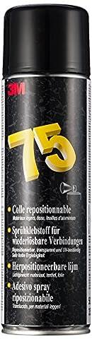 3M YP208061124 Scotch-Weld Colle Aérosol Repositionnable, Fixation Temporaire, Pulvérisation Particule, Transparente, Simple Encollage, 500 mL