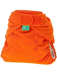 TotsBots PeeNut Waterproof Wrap Size 2 in Pumpkin Orange  for use with the Bamboozle Nappies