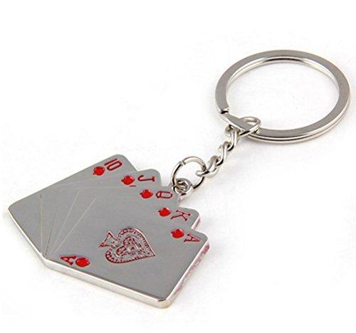 ZPL Portachiavi auto flush Poker catena chiave maschile di moda , 1