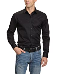 JACK & JONES PREMIUM Herren Hemd mit Manschetten Slim Fit 12020857 Andrew Shirt L/S Tight Fit