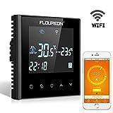 FLOUREON WLAN Thermostat Smart Raumthermostat Heizkörperthermostat Heizungsthermostat, Digital Heizungsregelung Programmierbar mit LCD Touchscreen