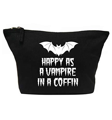 e2d0061f4a8f Flox Creative Makeup Bag Happy as a Vampire in a Coffin Black