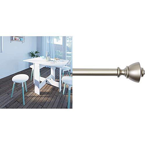Symbiosis 2050A2134X00 Contemporain Table Pliante avec 2 Abattants