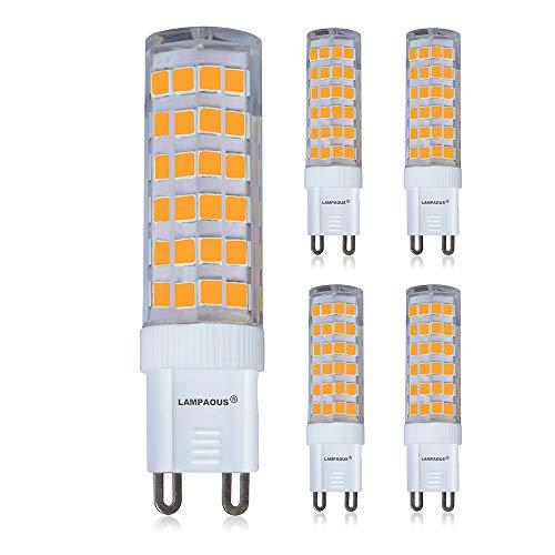 4er Pack Lampaous LED G9 Bin-Pin Lampe 7W Ersatz für 50W Glühbirne, Warmweiß 230VAC Kapsel Leuchtmittel -