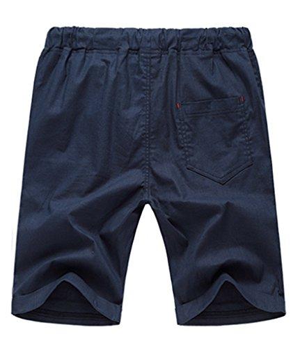 NiSeng Herren große Größe Casual Shorts Urlaub Strand-Shorts Sommer Badeshorts Surf Swim Shorts BoardShorts Elastische Taille Marine