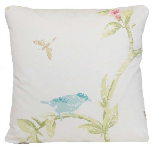 Crema di uccello modello cuscino decorativo Cuscino gettare case Bird Cage Nina (Dragonfly Crema)
