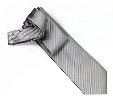100% pure silk woven neckties SOLID RIB (sliver)