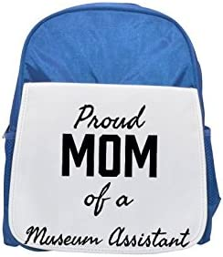 Proud Mom of a Museum Assistant printed kid's Bleu  backpack, Cute backpacks, cute small backpacks, cute Noir  backpack, cool Noir  backpack, fashion backpacks, large fashion backpacks, Noir  fashion b | De Qualité Constante