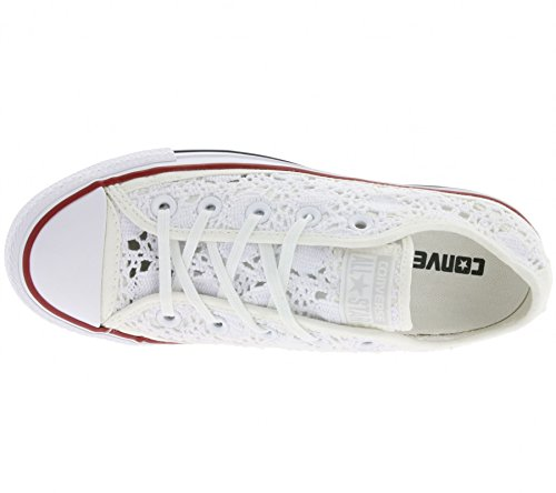Converse - All Star Ox Crochet, Chuck Taylor Speciality Ox Unisex - Adulto Bianco