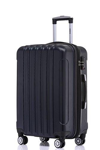 BEIBYE TSA Schloß, Zwillingsrollen, Dehnungsfuge, Hartschale Trolley Koffer Kofferset Reisekoffer Gepäckset (Dunkelblau) - 2
