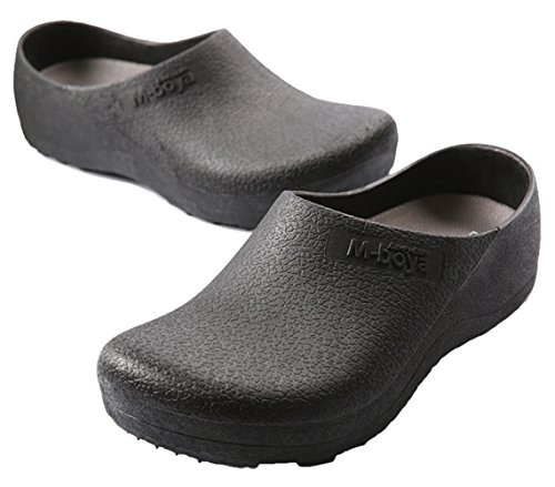 Adituo Work Clog Unisex Slip Resistant Kitchen Shoes Black For Nurse Chef 44