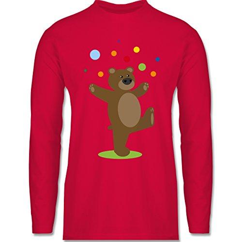 Sonstige Tiere - Kinder-Motiv Bär - Longsleeve / langärmeliges T-Shirt für Herren Rot