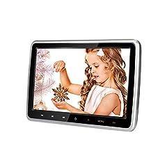 Idea Regalo - MiCarBa lettore dvd auto 10.1 pollici Ultra-Thin HD veicolo poggiatesta lettore DVD Monitor sedile posteriore nel sistema di intrattenimento per auto per bambini con HDMI USB SD Remote (CL101DVD)