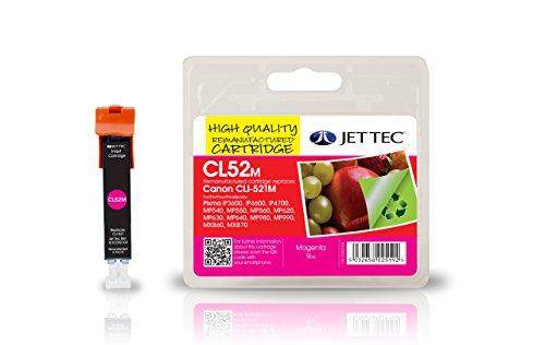 Preisvergleich Produktbild Jet Tec 2935B001AA Canon CLI-521 In England hergestellte Kompatible Tintenpatrone, magenta