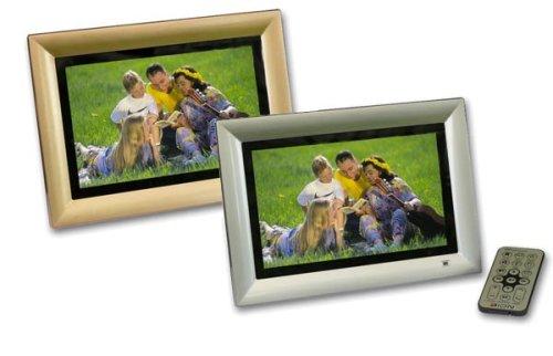 HighpeQ SDP-708 MR Digitaler Bilderrahmen (17,8 cm (7 Zoll) Display, widescreen, 128 MB interner Speicher, Videofunktion) weiss