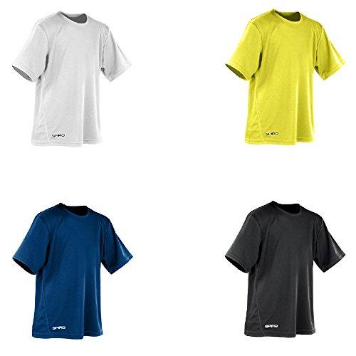 Spiro Girls Performance Fabric Quick Dry Short Sleeve Junior T-Shirt S-XL