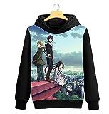 Cosstars Noragami Anime Pullover Sudaderas con Capucha Cosplay Disfraz Hoodie Sweatshirt Outwear Abrigo Suéter Negro 2 L