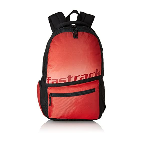 Fastrack 25.81 Ltrs Red School Backpack (A0679NRD01)