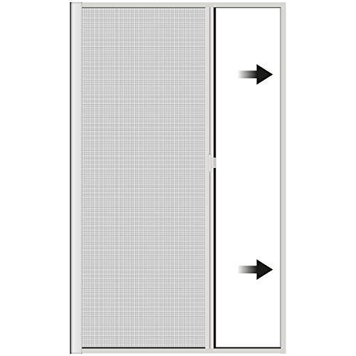 Incubado 1PLUS Premium Aluminium Insektenschutz Rollo für Türen in verschiedenen Größen und Farben Farben (120 x 225 cm, Weiß)