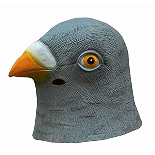 Kopf Vogel Kostüm - AMSIXP Maske Süße Taube Maske Latex Riesen Vogel Kopf Halloween Cosplay Kostüm Theater Prop Party Masken