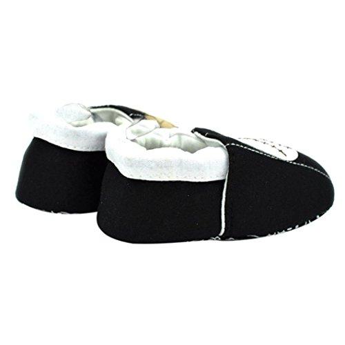 Jamicy® Baby Mädchen Jungen Schuhe niedlich lernen gute rutschfeste Soft Sole Kleinkind Schuhe Schwarz