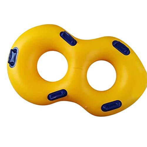 Yellow,Kreativer aufblasbarer Schwimmen-Ring-Pool-Schwimmring 120x60cm mit Handlauf (Farbe: gelb)