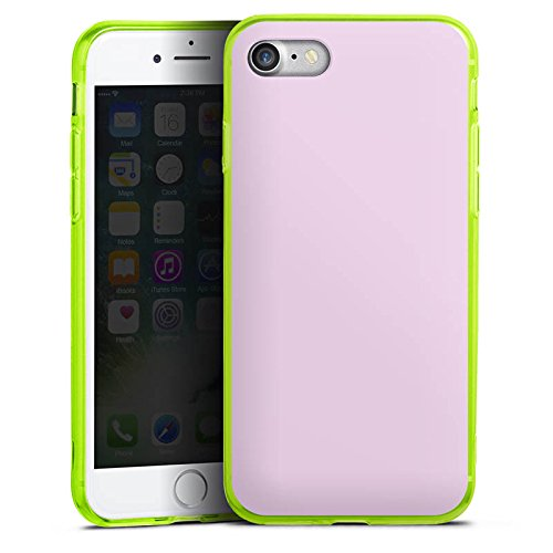 Apple iPhone 8 Silikon Hülle Case Schutzhülle Flieder helleres Violett Lila Silikon Colour Case neon-grün