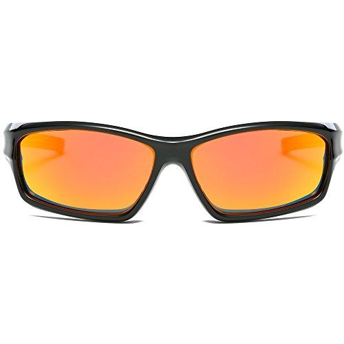 Sojos Kids Kinderbrille Flexible Silikon Gummi verspiegelt Sonnenbrille für Jungen und Mädchen...