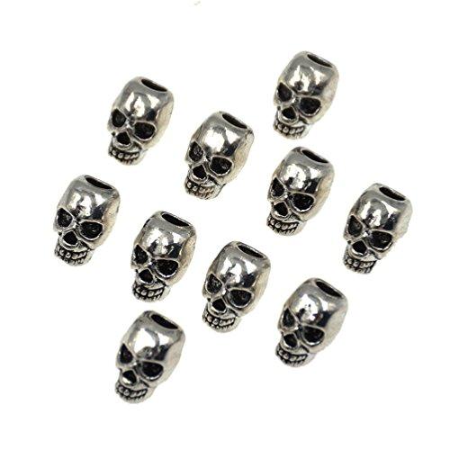 Ynuth 10pz dreadlocks perline clip capelli per trecce cranio skull forma decorazione cappelli branelli fermagli treccia branelli