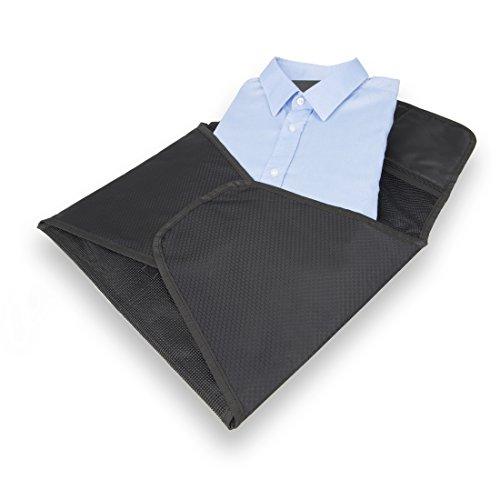BAGSPERTS™ Hemdentasche (Verbesserte Version 2018) | Premium-Kleidertasche zum knitterfreien Transport von Hemd, Bluse oder Sacco | Atmungsaktive Hemdtasche, perfekt für Reisen