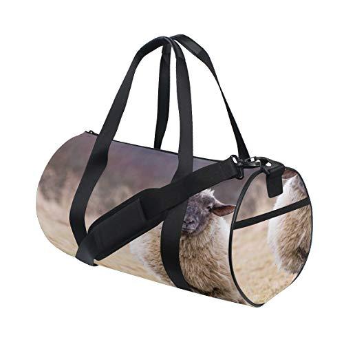 carino campagna pecore animale personalizzato multi leggero grande yoga palestra totes borsa viaggio tela borse viaggio con tracolla crossbody fitness sport bagaglio per ragazzi ragazze uomo donna