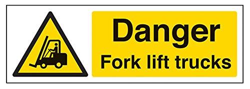vsafety-64010ax-s-danger-fork-lift-trucks-warning-vehicle-sign-self-adhesive-landscape-300-mm-x-100-