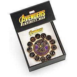 Avengers Marvel Infinity War Enamel Pin Set: Infinity Gauntlet