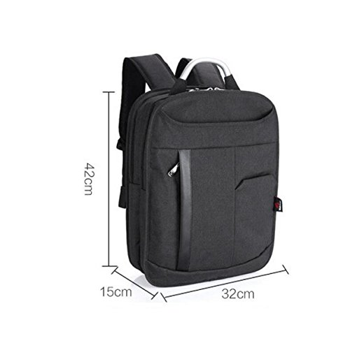 Vertikale Computer-Tasche Große Kapazität Männer Und Frauen Rucksack Tasche Freizeit Geschäftsreise Einfach Wild Black