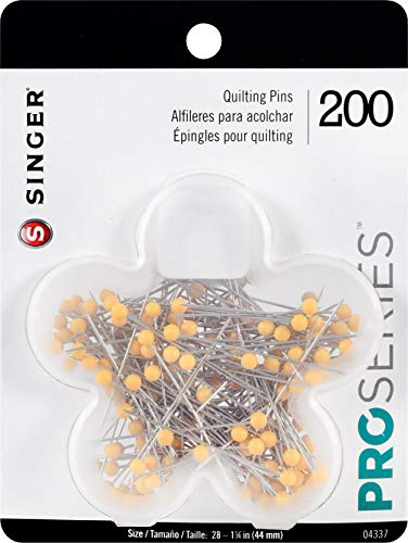 Singer Ball Head Quilting Pins in Blume Fall Quilt-Stecknadeln Silber -