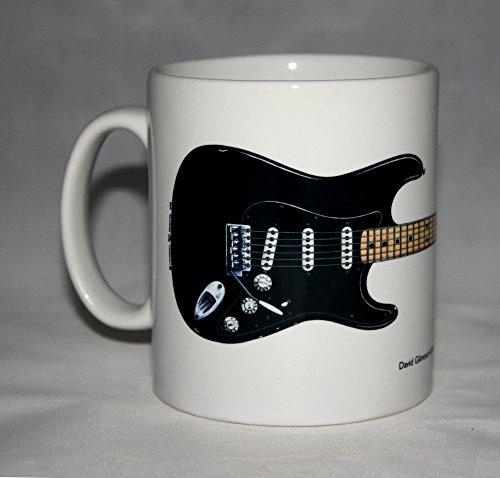 Tazza di chitarra. Chitarra di Black Strat di David Gilmour illustrazione. - Inoltre Pickup