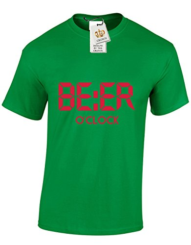 beer-oclock-funny-cool-gift-for-men-teenagers-t-shirts-tops-green-small