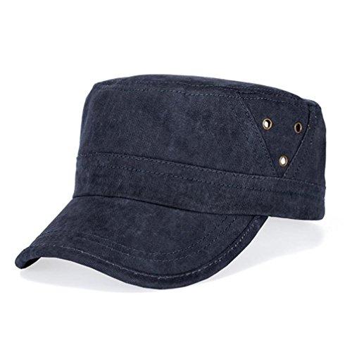 UFACE Retro Hut der Männer Herren Baseballmütze Fashion Shopping Radfahren Ente Zunge Hut (Dunkelblau)